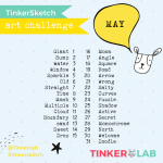 TinkerSketch: The May Art Challenge