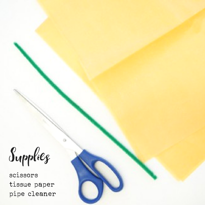 how to make tissue paper flowers supplies