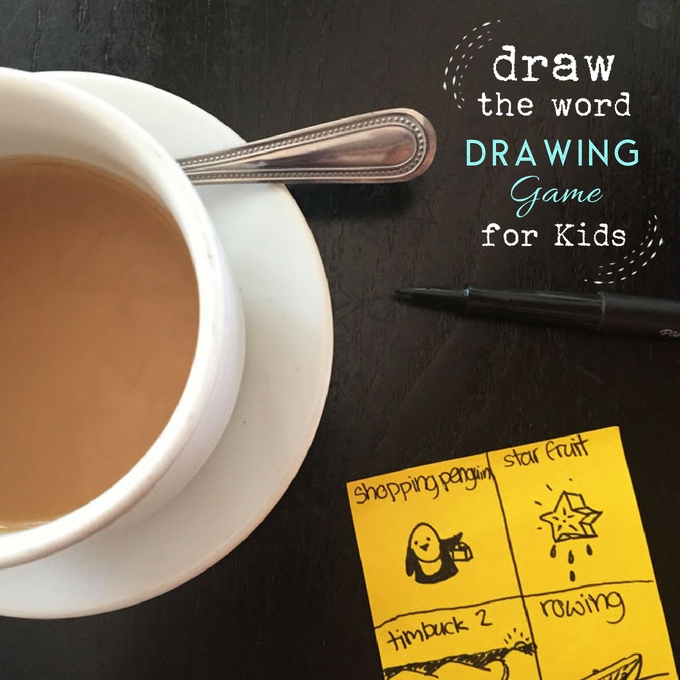 Draw the Word: A Drawing Game for Kids | TinkerLab