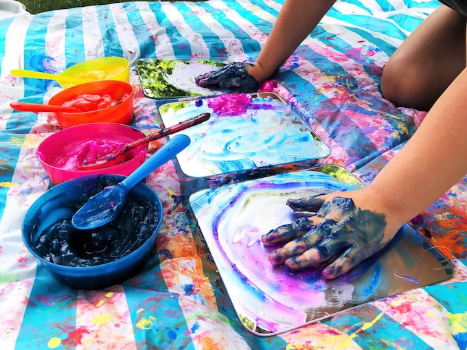 play with homemade edible paint