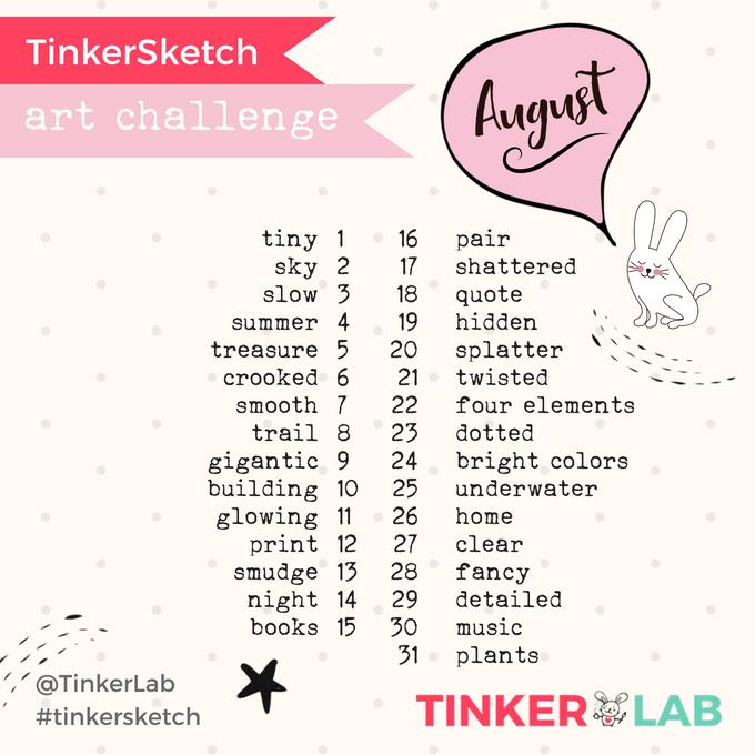 August Art Challenge TinkerLab