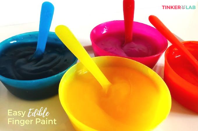 Homemade Edible Paint for Kids   TinkerLab