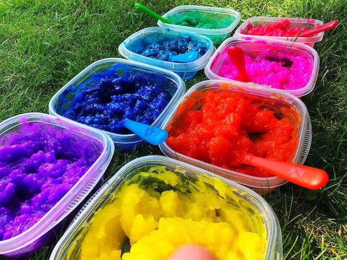 gel paint process art recipe
