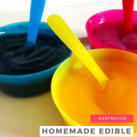 Homemade Edible Paint for Kids