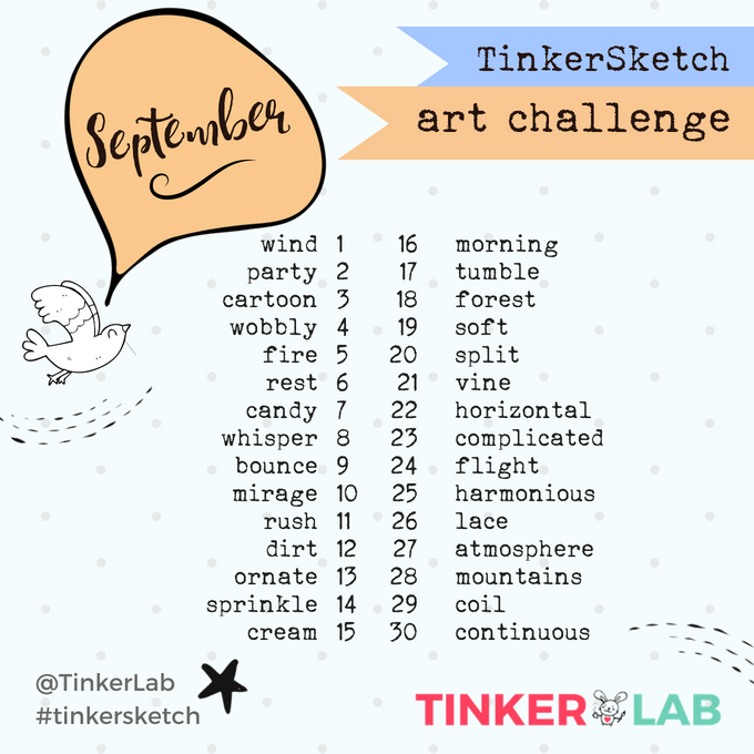 September Art Challenge | TinkerLab