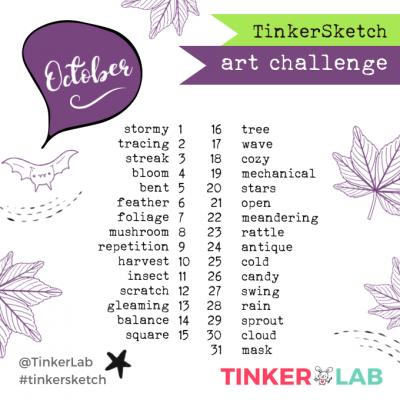 October Art Challenge TinkerLab