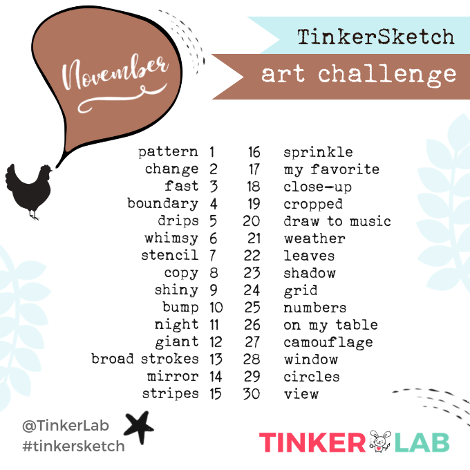 November Art Challenge TinkerLab