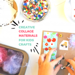 Creative Collage Materials for Kids Crafts