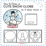 How to Draw a Cute Snow Globe