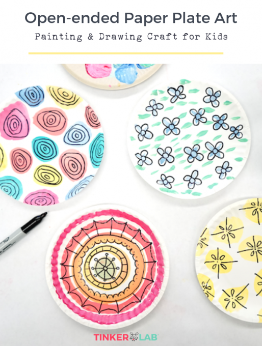 Painting And Drawing Paper Plate Craft Tinkerlab