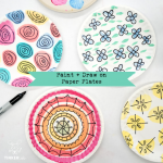 Painting and Drawing Paper Plate Craft