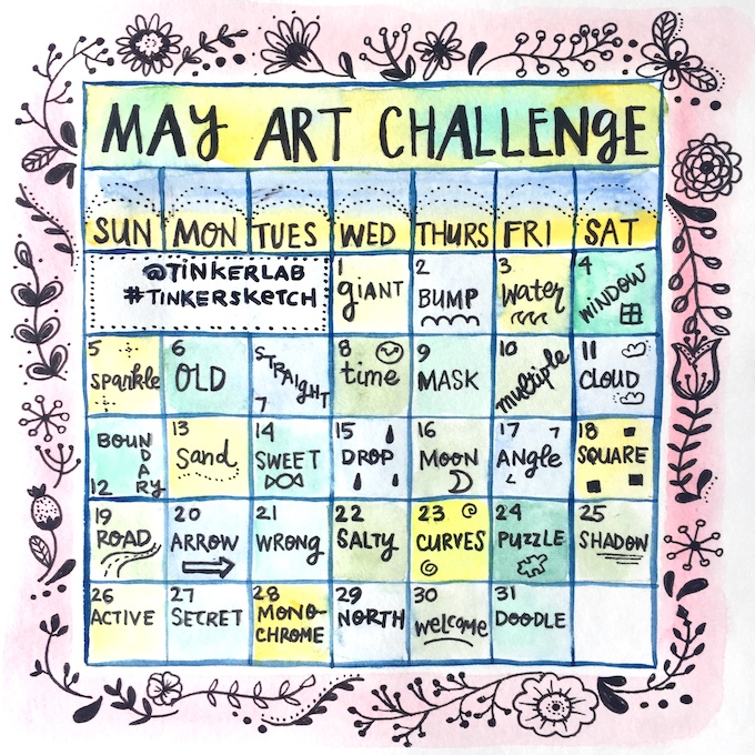 may art challenge tinkerlab