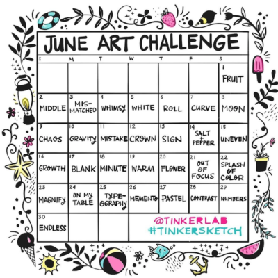 June Art Challenge from TinkerLab