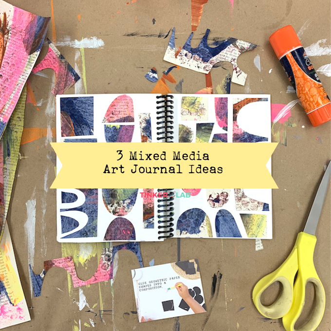 Mixed Media Art Journal Ideas [Card Download]