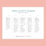 Weekly Activity Calendar (Download)