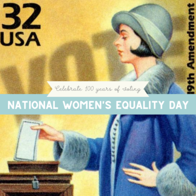 National Women's Equality Day - Activities for Kids
