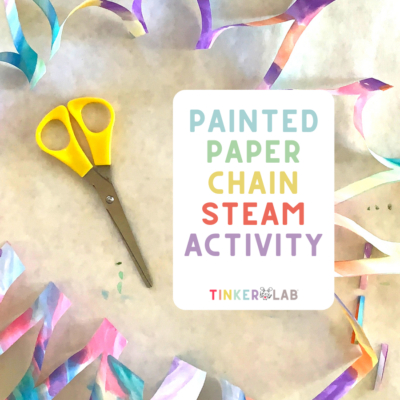 Painted Paper Chain - A STEAM Math Activity
