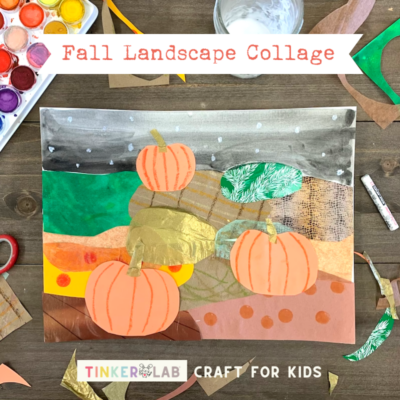 landscape collage fall craft for kids