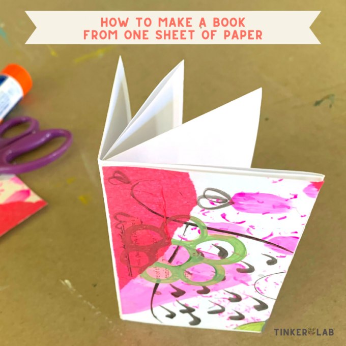 How to make a book from piece of paper