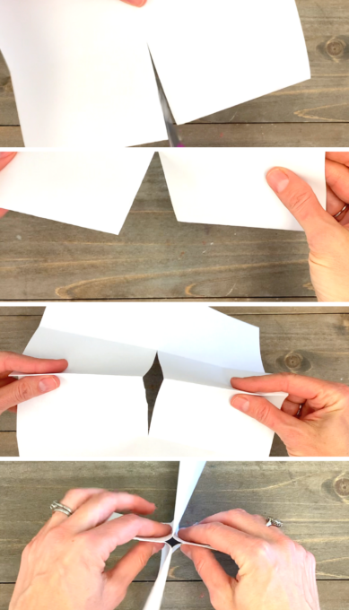 Folding a book from one piece of paper